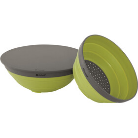 Outwell Collaps Set Bol & Escurridor, lime green